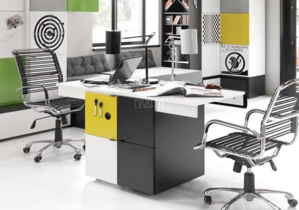 письменный стол для двоих детей с широкой столешницей