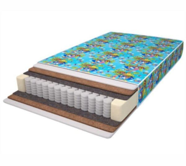матрас в детскую кроватку с пружинными блоками