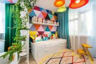 дизайн комнаты с мебелью ИКЕА для девочки