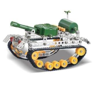 Конструктор танк с металлическими деталями