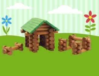игрушка дом из бревен для малыша