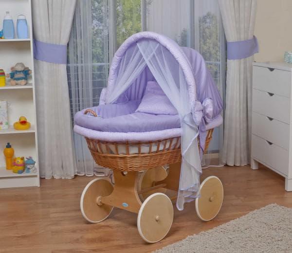 овальная кроватка для малыша с козырьком