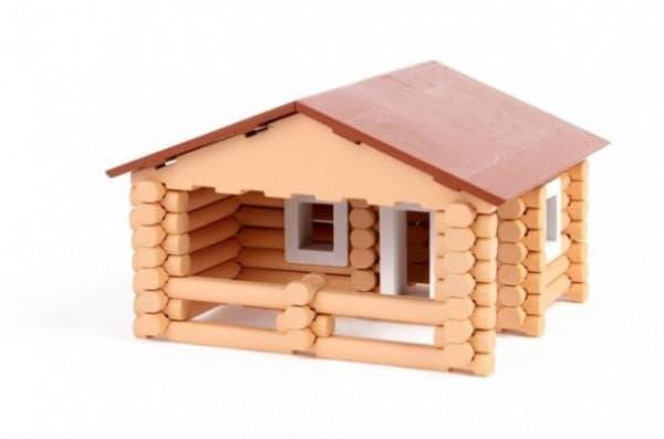 дом из деревянных деталей для детей