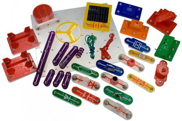 Детали электронного конструктора для детей