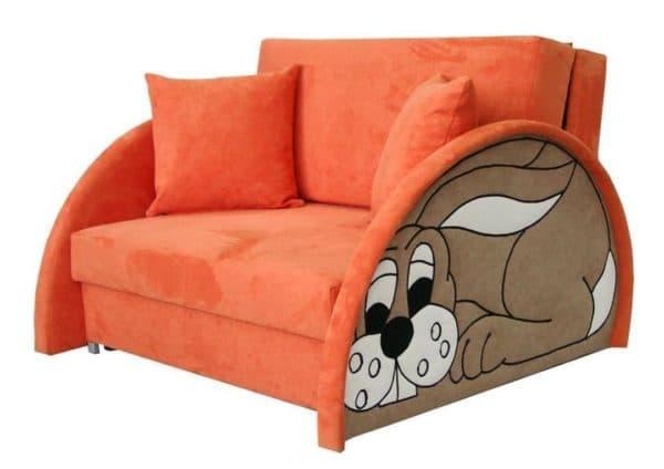 Кресло-кровать с закругленными углами для детей