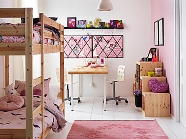 кровать ИКЕА двухъярусная для девочки