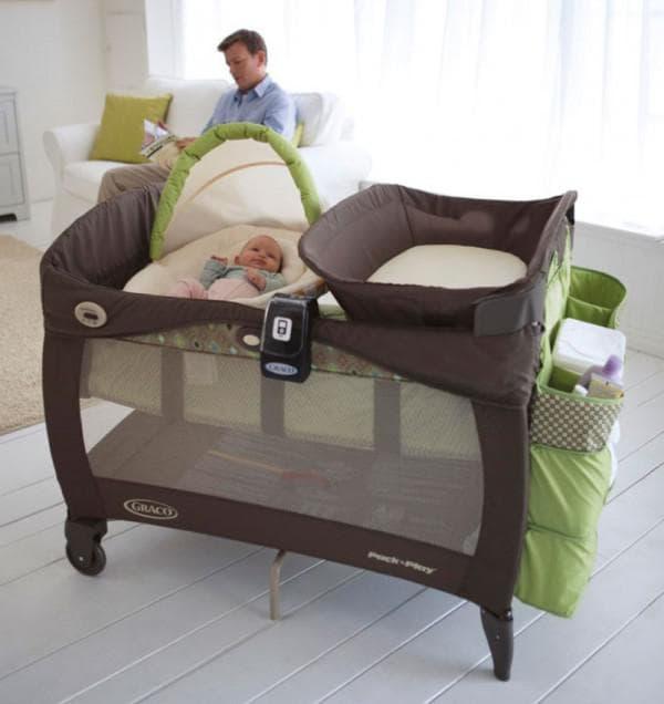 недорогая овальная кроватка для малыша