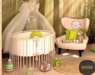 овальная колыбель для новорожденного