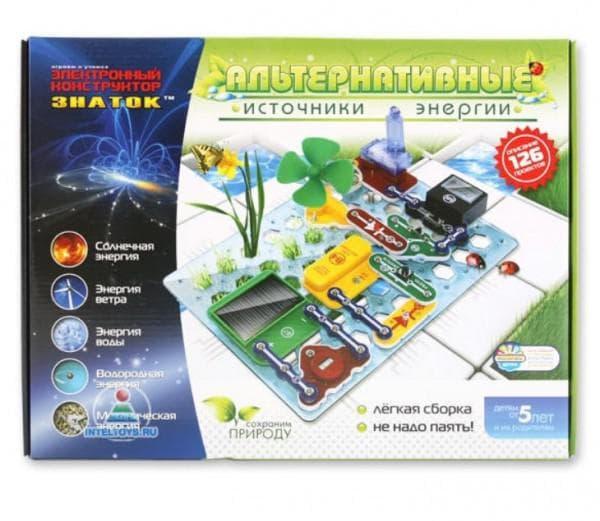 Электронный конструктор для ребенка от 5 лет с альтернативными источниками энергии