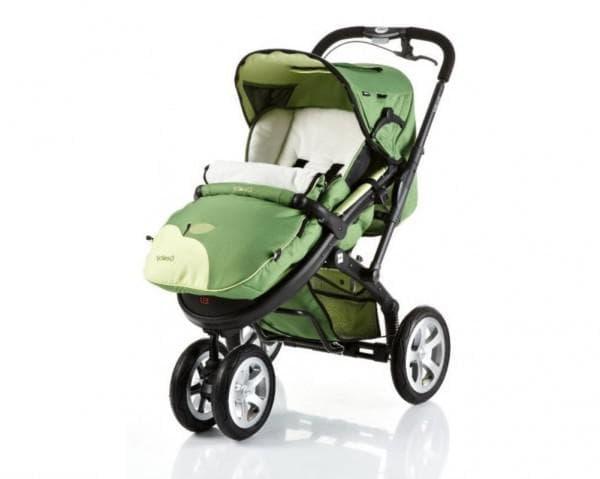 Зеленая коляска Geoby