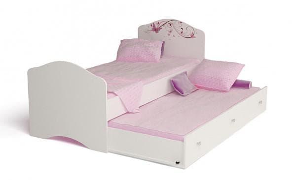 Кроватка для двух девочек выдвижная