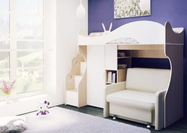 Двухъярусные диваны кровати для девочек