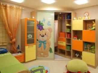 Детский шкафчик с ящиками
