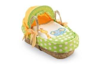 Плетеная итальянская люлька для младенца