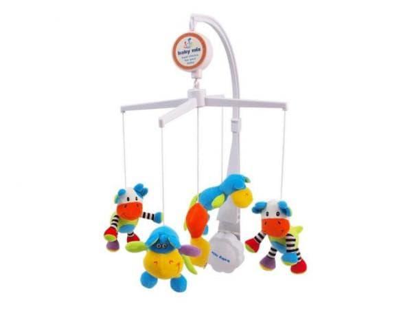 Мобиль детский с мягкими игрушками