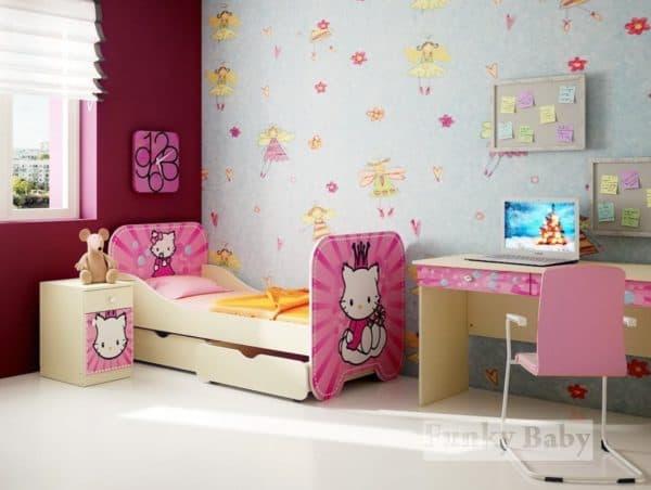 Кроватка с бортиками для девочки от 2 лет