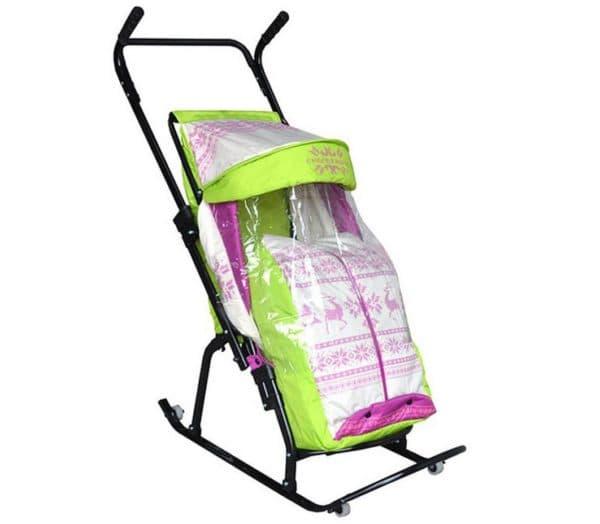 Санки коляска зимние от 0 до 3 лет