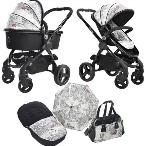Коляска для малыша с зонтиком и сумочкой для мамы