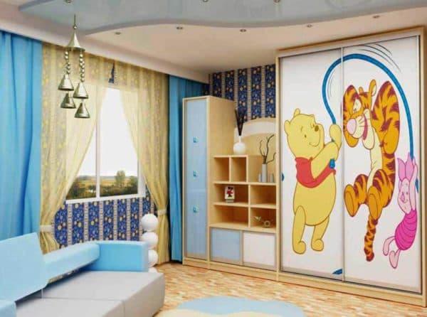 Шкаф многофункциональный в детскую комнату