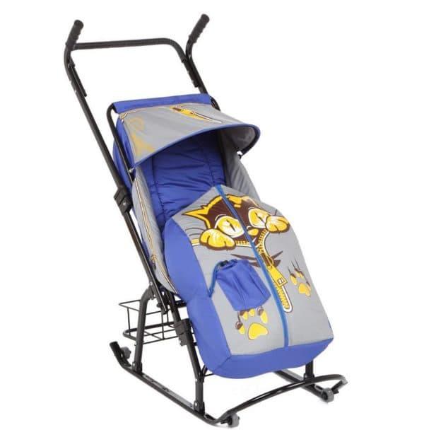 Санки коляска Снегурочка