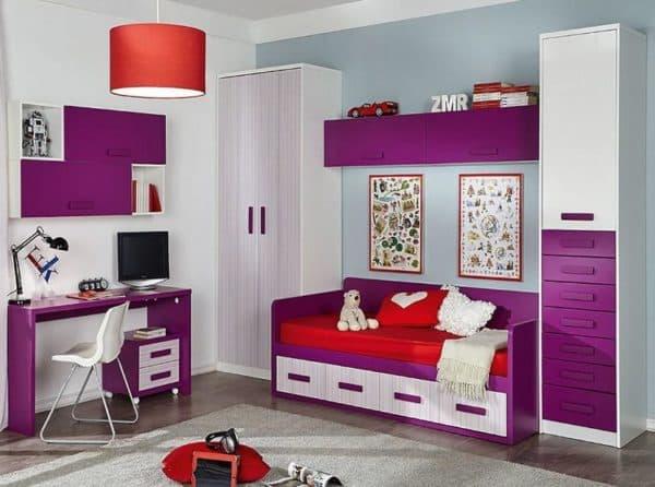 Шкафы с ящиками в детскую комнату