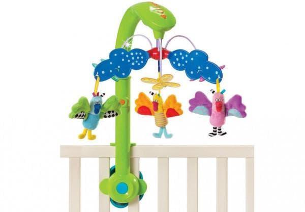 Каруселька в детскую кроватку с птицами