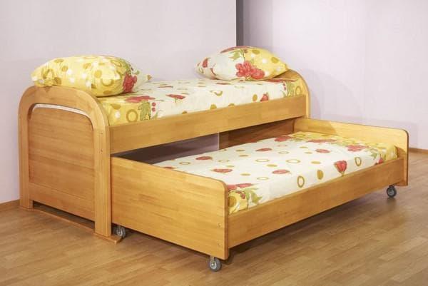 Кровать детская выкатная с бортиками