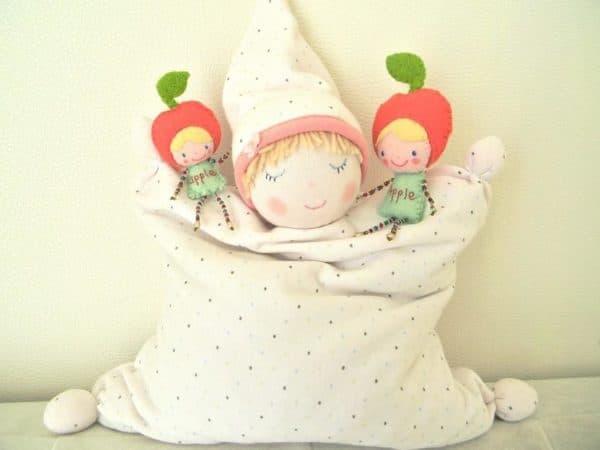 Мягкая игрушка подушка с натуральным наполнителем