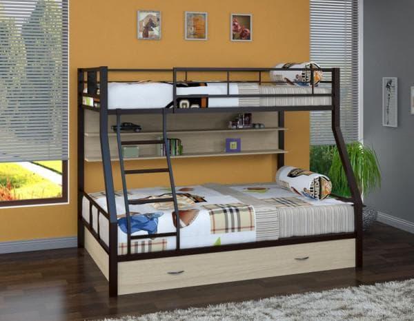 Кровать двухъярусная в детскую с ящиками