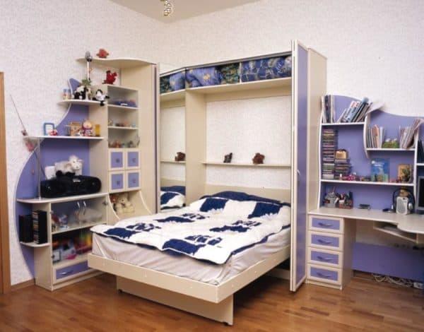 Кровать откидная в комнату подростка