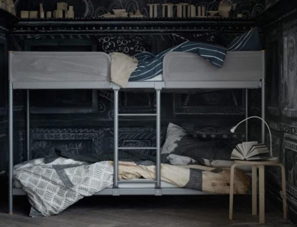 Кровать двухэтажная Икея металлическая