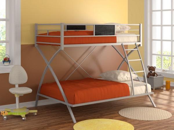 Кровать двухъярусная металлическая красивая
