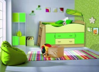 Детская кровать чердак с ящиками