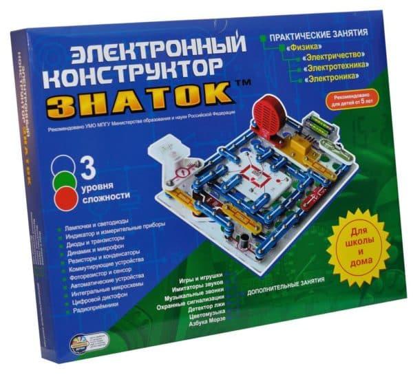 Конструктор с электронными элементами Знаток