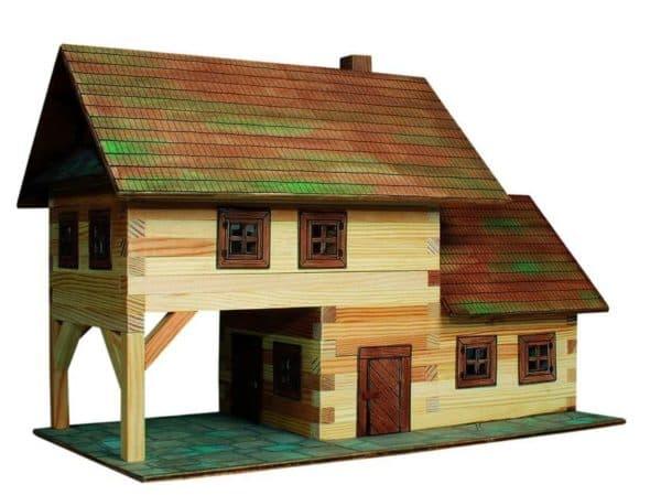 конструктор для детей бревенчатый дом