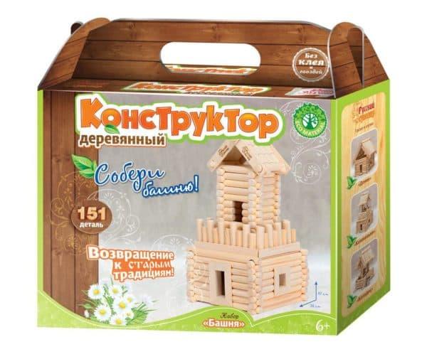 деревянный конструктор башня