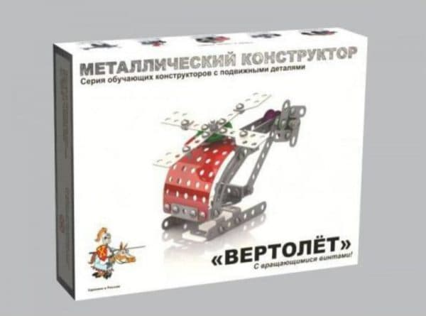 Металлический конструктор вертолет для мальчиков