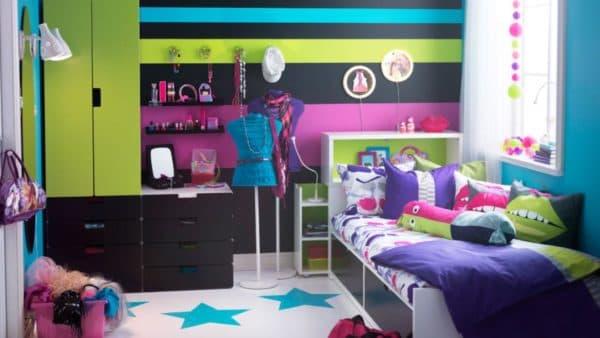 комната для девочки подростка с мебелью ИКЕА