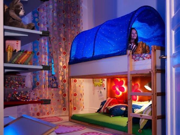 кровать и балдахин Икея для девочки
