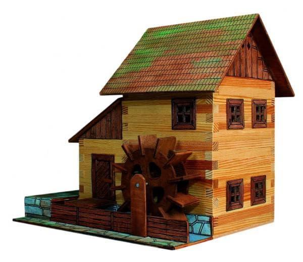 конструктор деревянный домик мельницей