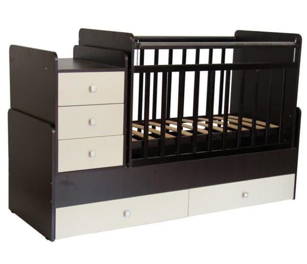 кроватка-трансформер с ящиками для хранения