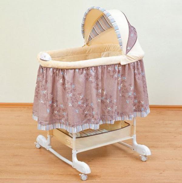 люлька-качалка для новорожденного в классическом стиле