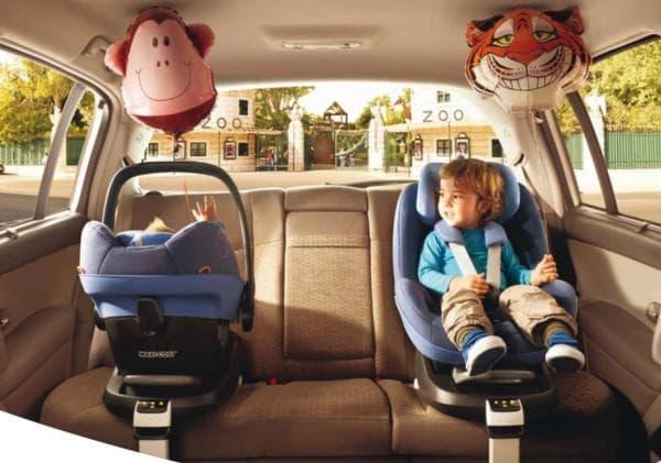 варианты установки детской автолюльки