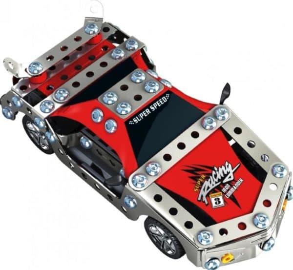 Конструктор для мальчика из металла в виде гоночной машины