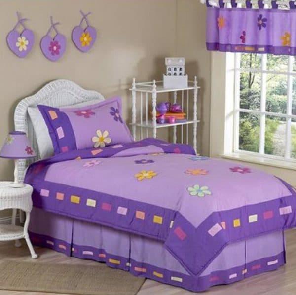 покрывало фиолетового цвета для девочки