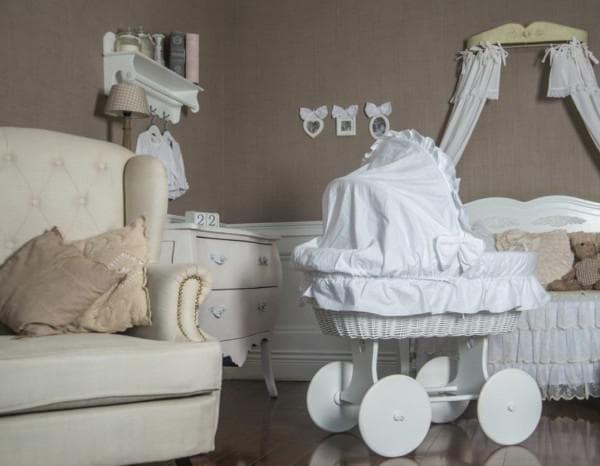 Польская плетеная люлька для новорожденного