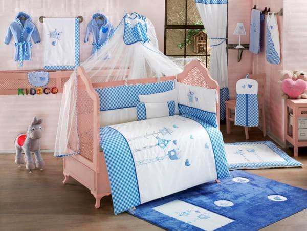 Набор в кроватку новорожденного мальчика