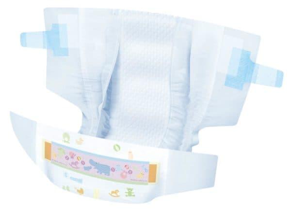 Подгузник для новорожденного с липучками