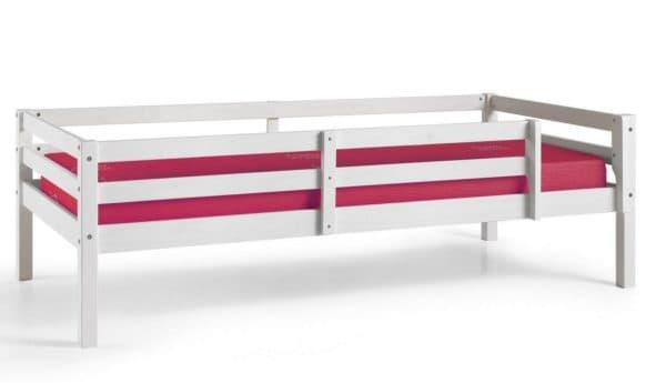 Кроватка детская с бортиками белая