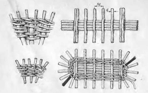 Плетеная колыбель для малыша схема